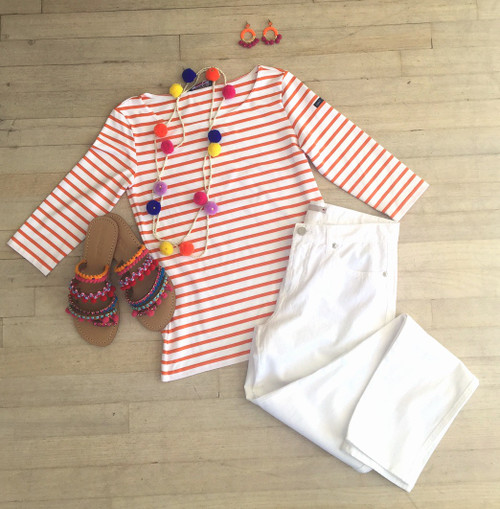 Saint James | Garde Cote Top | Orange & White Stripe | Insta