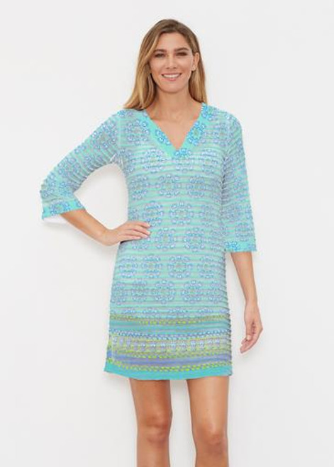 Before & Again | Banded Coverup Dress | Maui Aqua
