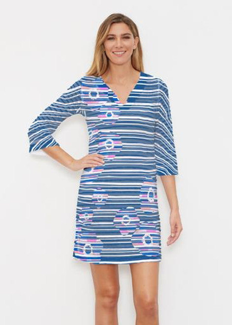 Before & Again   Banded Coverup Dress    Watercolor Paisley