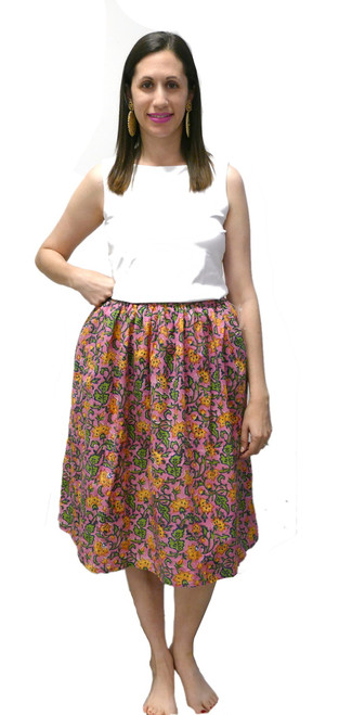 One of a Kind Party Skirt   Pink & Green Floral