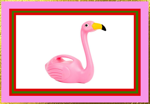 Pink Flamingo Watering Can | Holiday Gift Guide ♥