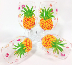 Pineapple Large Wine Glasses (set of 4)