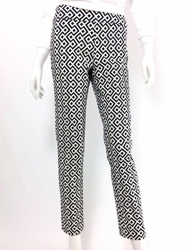 Krazy Larry Pull On Geometric Ankle Pant