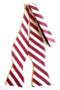 Collegiate Crimson White Bow Tie