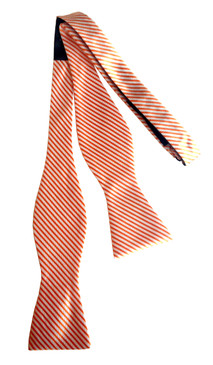 Signature Series Stripe Bow Tie Orange