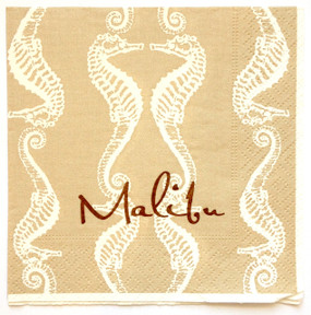 Seahorse Cocktail Napkins (Pack of 100)