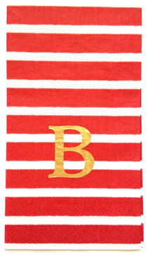 Red Stripes Guest Towels (Pack of 100)