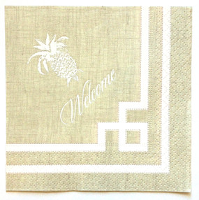 Welcoming Pineapple Cocktail Napkins (Pack of 100)