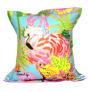 Flamingo Forest Pillow