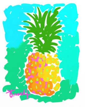 Morning Pineapple Print