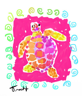 Party Turtle Print