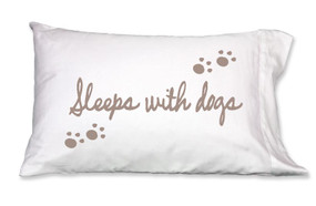 Sleeps with Dogs Pillowcases
