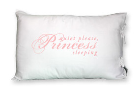Quiet Please, Princess Sleeping Tie-Closure Pillowcase
