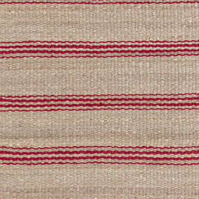 Jute Ticking Crimson