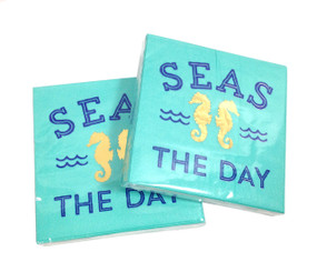 Seas the Day Cocktail Napkins (Set of Two)