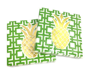 Pineapples Cocktail Napkins (Set of Two)
