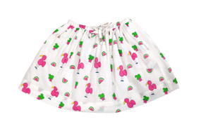 Childs Skirt Snappy Flamingos - Originally $52