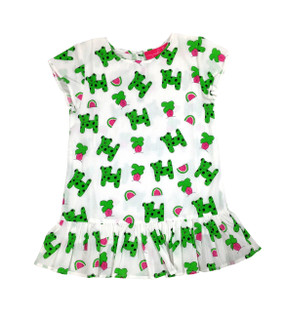 Childs Ruffle Dress Snappy Dogs - Originally $54