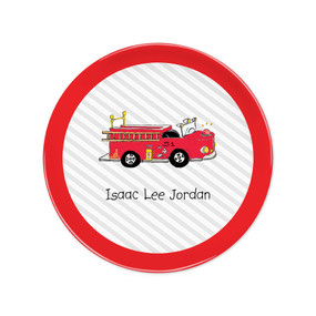 "Fire Engine 8"" Melamine Plates"