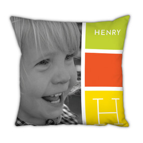 Summer Blocks Pillow With Picture