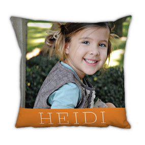 Orange Banner Pillow With Picture