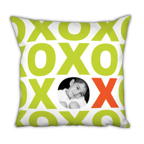 Lime XOXO Pillow with Picture