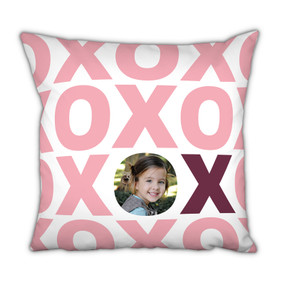 Pink XOXO Pillow with Picture