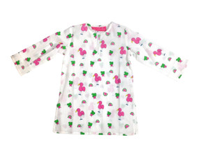 Childrens Tunic Snappy Flamingos - Originally $34