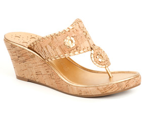 Cork and Gold with cork/gold heel