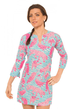 Gretchen Scott Tiger Tails Tunic Turq/Pink