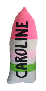Custom Buoy Pillow Pink and Green