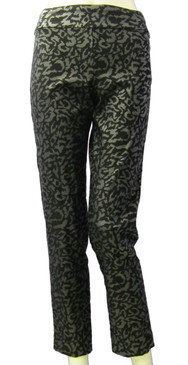 Krazy Larry Pull On Black Animal Ankle Pant