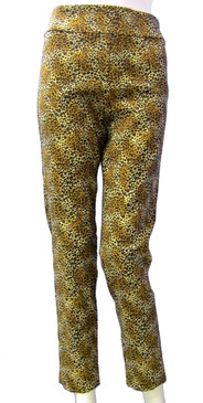 Krazy Larry Pull On Leopard Print Pants