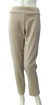 Krazy Larry Hollywood Fabric Dressy Beige Pull On Ankle Pant