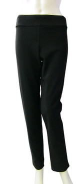 Krazy Larry Hollywood Fabric Dressy Black Ankle Pull On Pant