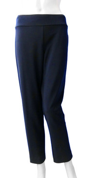 Krazy Larry Hollywood Fabric Dressy Navy Ankle Pull On Pant