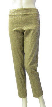 Krazy Larry Pull on Animal Beige Ankle Pant