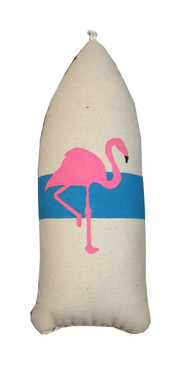 Flamingo Buoy Pillow Blue