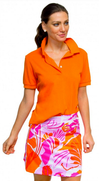 Gretchen Scott Frond Friendly Skippy Skort Pink & Orange