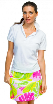 Gretchen Scott Frond Friendly Skippy Skort Pink & Green