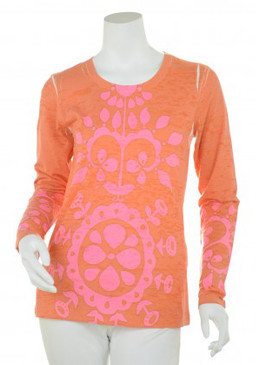 Signature Long Sleeve Crew | Flowering Terracotta