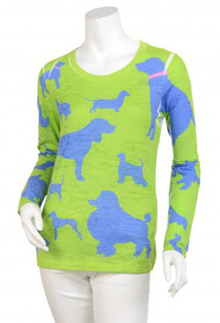 Signature Long Sleeve Crew | Dogs Green