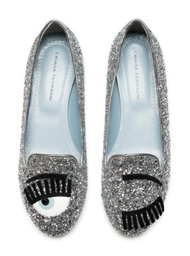 Flirting Slippers Silver