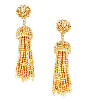 Tassel Earrings | Gold