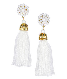 Coco Earrings | White