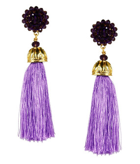 Coco Earrings | Purple