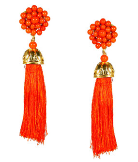 Coco Earrings | Orange