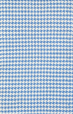 Checks French Blue Cotton Woven Rug