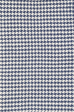 Checks Indigo Cotton Woven Rug