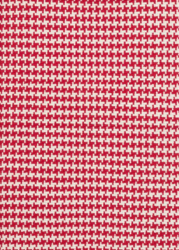 Checks Red Cotton Woven Rug